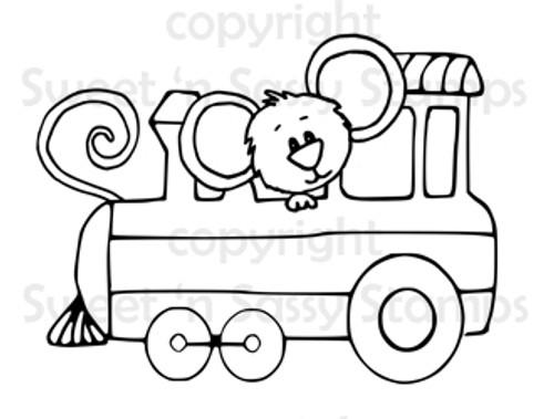 Cocoa's Train Digital Stamp