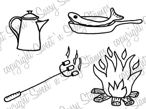 Campfire Goodies Digi Stamp