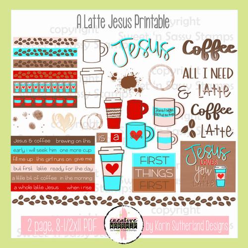Creative Worship: A Latte Jesus Printable