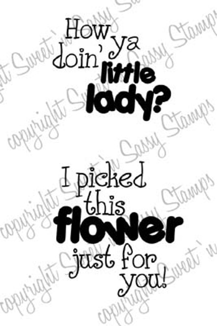 Ladybug Sentiments Digital Stamp
