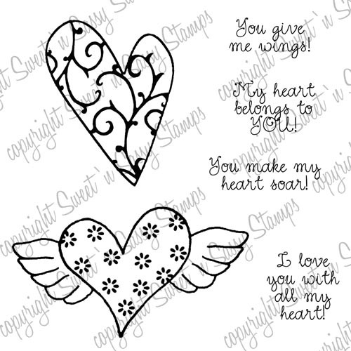 All My Heart Digital Stamp