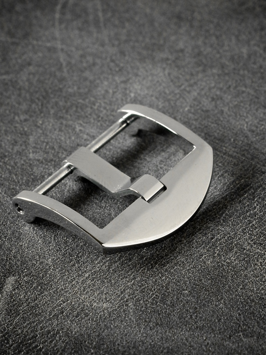 Polished Screw-In Thumbnail Steel Watch Buckle