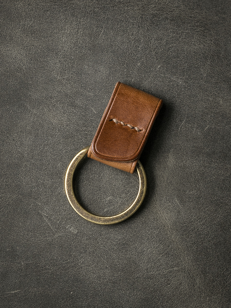 """Guardian"" Whiskey Handmade Leather Key Fob"