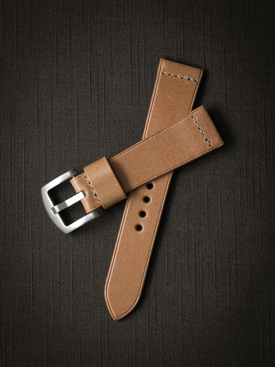 """""""Asher"""" Natural Leather Watch Strap"""