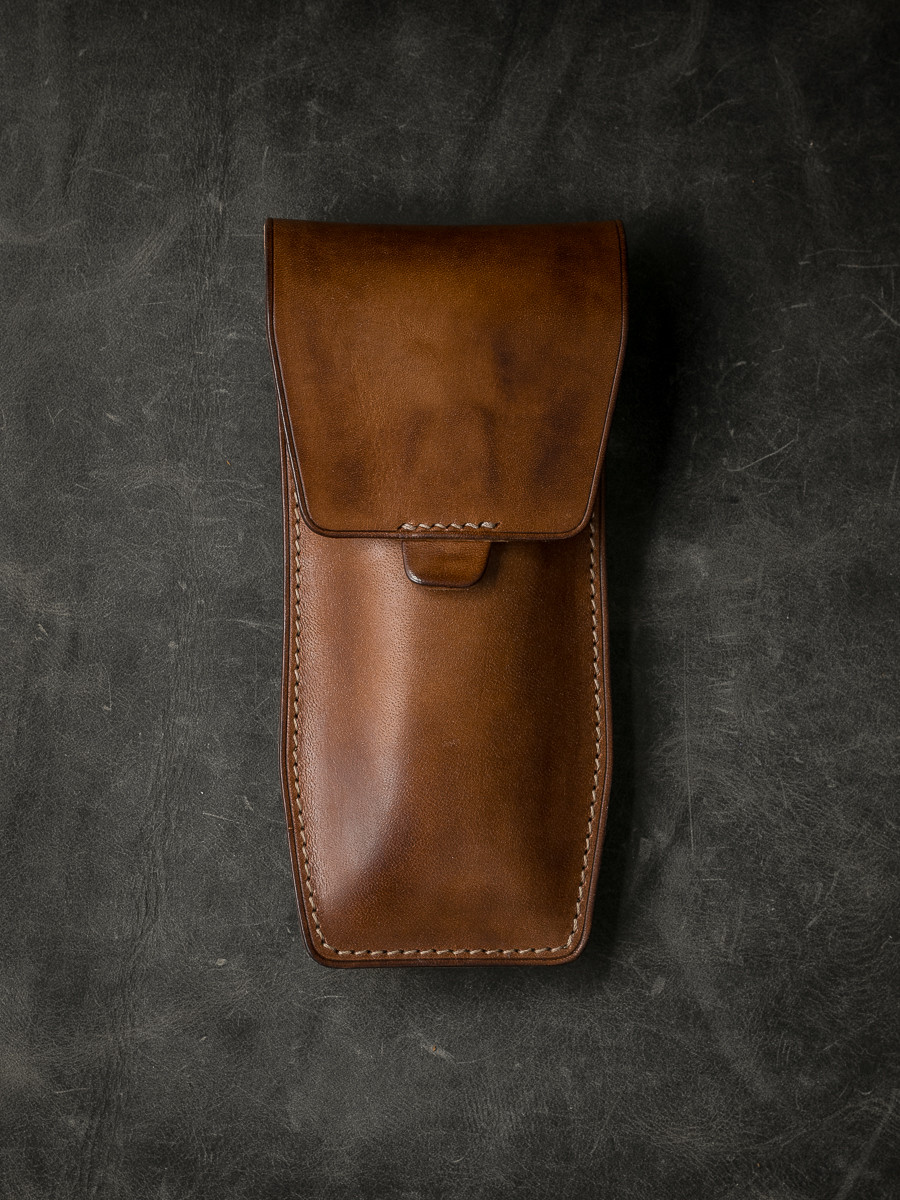 """""""Kingsford"""" Vintage Bourbon  Leather Watch Pouch"""