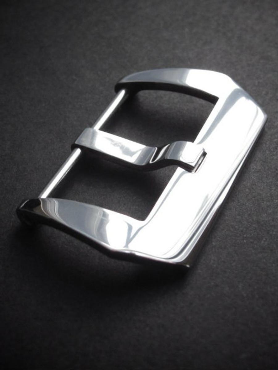 Polished Pre-V Screw-In Steel Watch Buckle