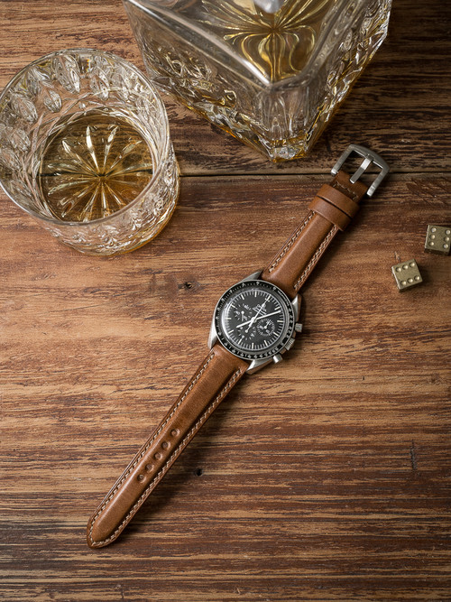 """Guinness"" Whiskey Padded Leather Watch Strap"