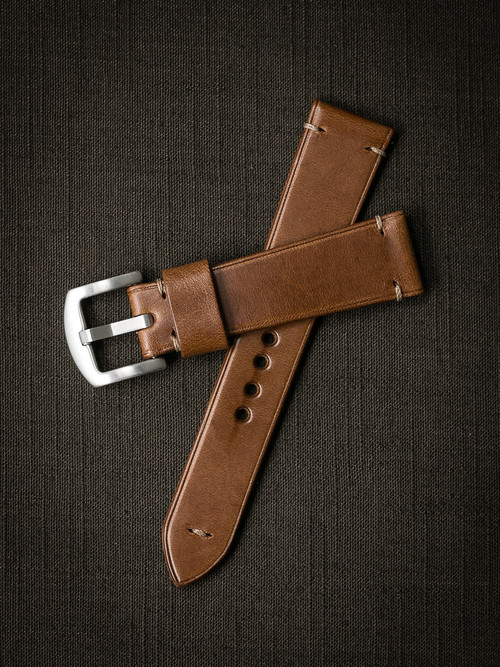 """Patrón"" Whiskey Leather Watch Strap"