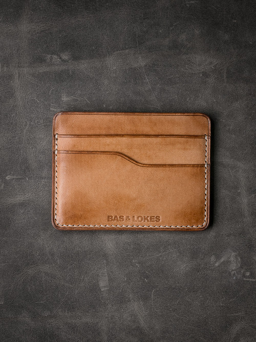 """Ford v2"" Natural Vintage Tan Slim Leather Wallet"