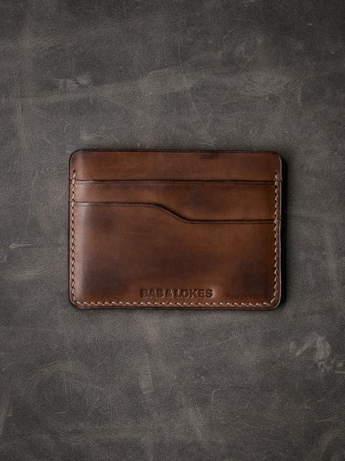 """Ford v2"" Bourbon Vintage Tan Slim Leather Wallet"