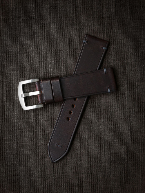 """Pierce"" Burgundy Leather Watch Strap"