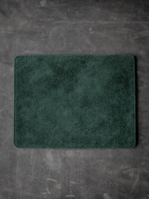 Bas and Lokes Green Suede and Leather Reversible Valet Mat