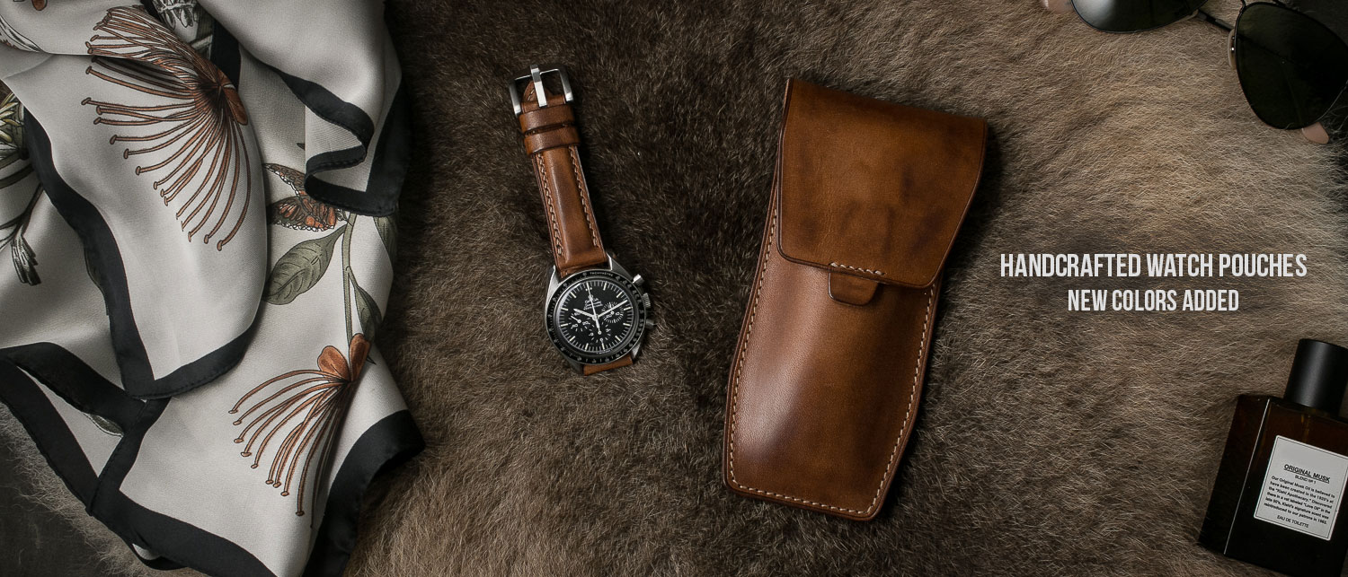 Handcrafted Leather Watch Pouches