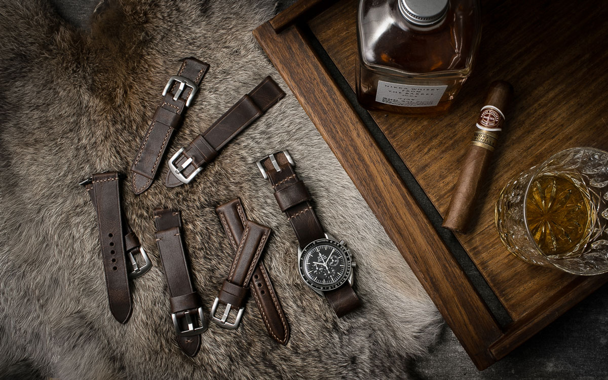 Handcrafted Aviator Brown Watch Strap Collection