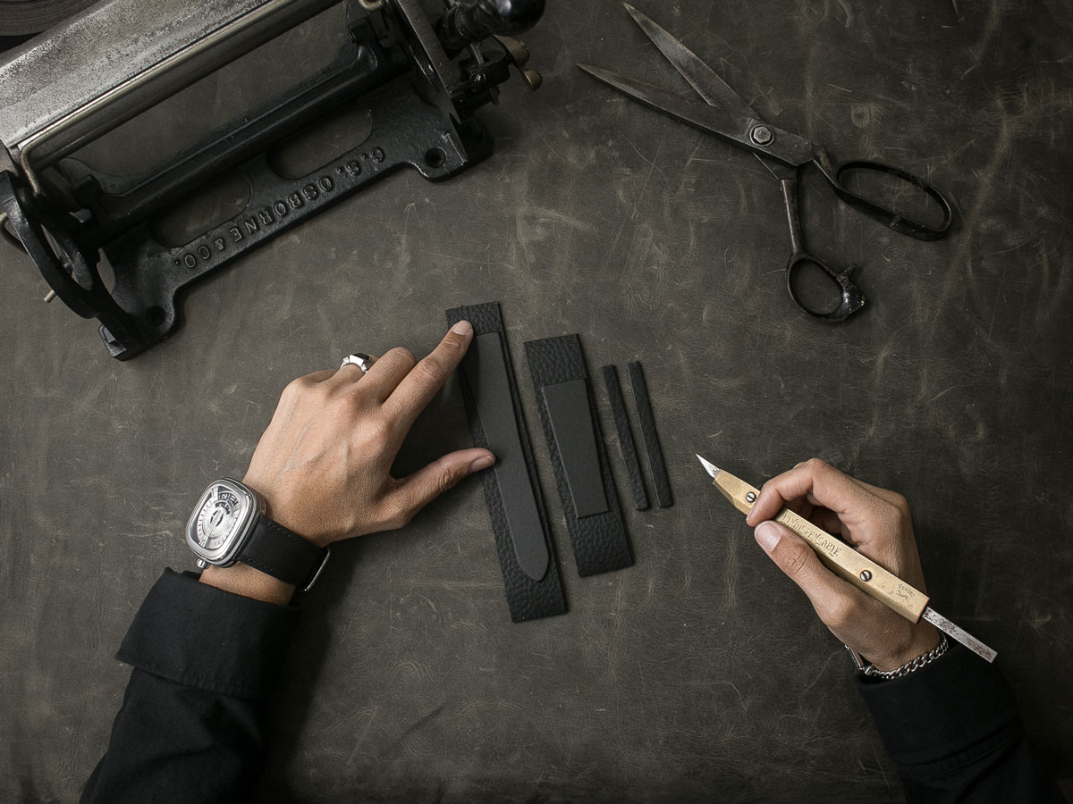 Handcrafting a high end leather watch strap