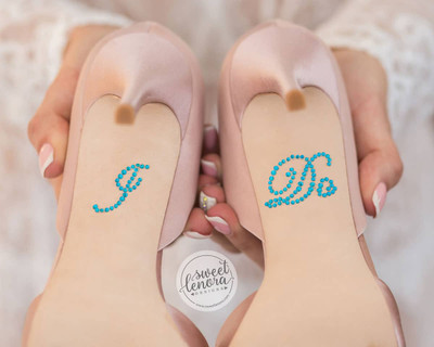 'I Do' Rhinestone Shoe Decals