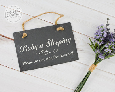 Baby is Sleeping Slate Sign