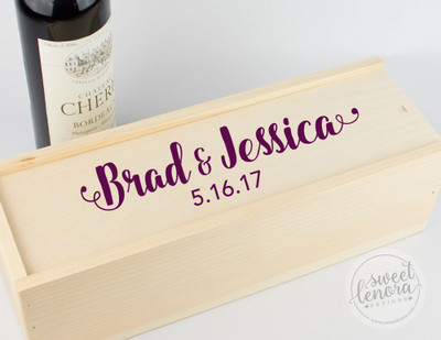 Script Logo Single Wine Keepsake Box