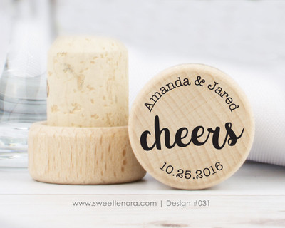 Modern Cheers Wine Stopper Favors 031