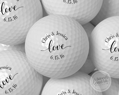 Love Personalized Golf Balls