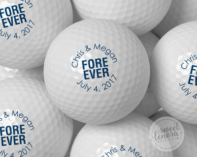 Fore Ever Personalized Golf Balls