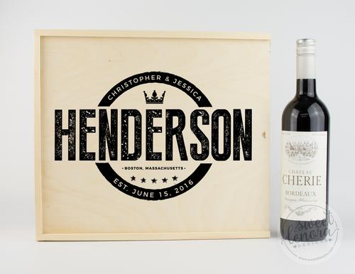 Modern Logo Wine Keepsake Box