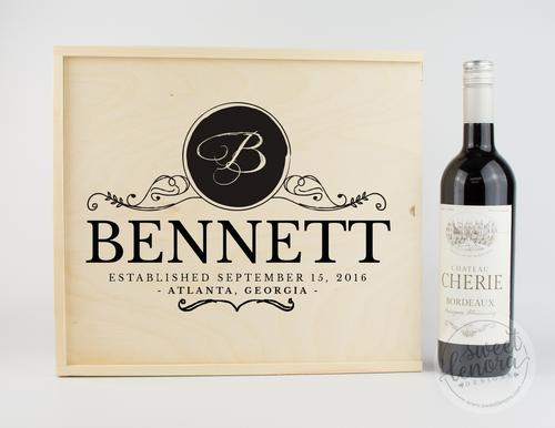 Classic Logo Wine Keepsake Box