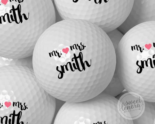 Mr. & Mrs. Personalized Golf Balls