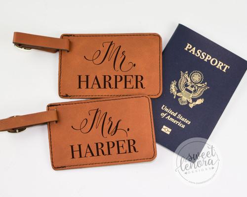 Mr. & Mrs. Luggage Tags (Set of 2)