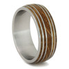 9 mm Unique Mens Wedding Bands Whiskey Barrel Inlay - W165M