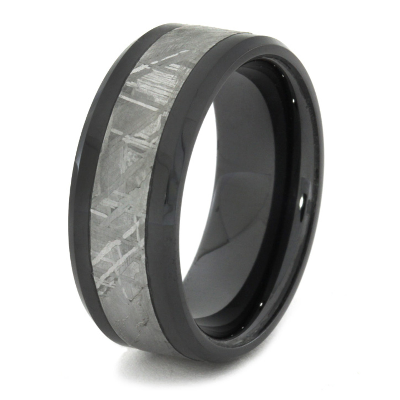 8mm tungsten carbide with antler inlay c121m at mwb 8 mm unique mens wedding bands with black ceramicmeteorite bc166m junglespirit Choice Image