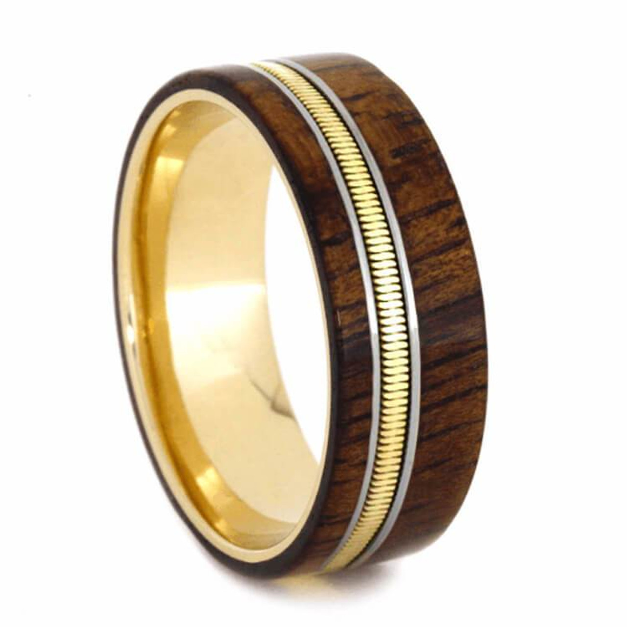 8 Mm Yellow Gold Bands Wood Inlay Guitar String Yg614m