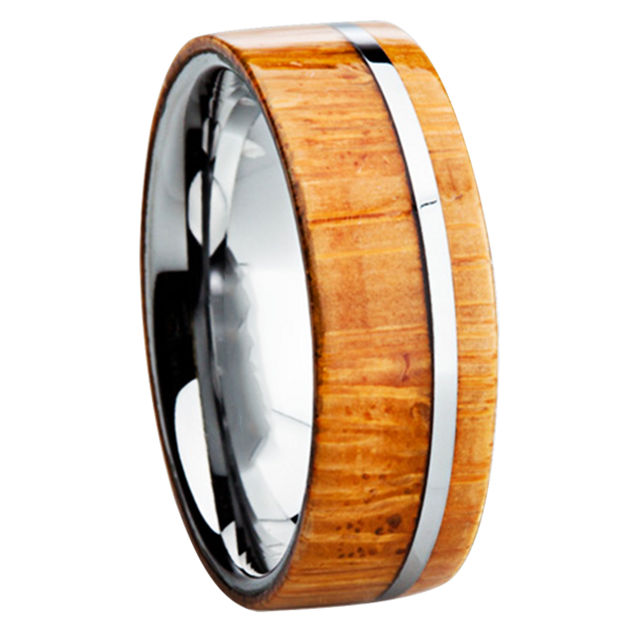 wedding koa mens titanium tungsten s inlay wood unique bamboo rings mm men bands
