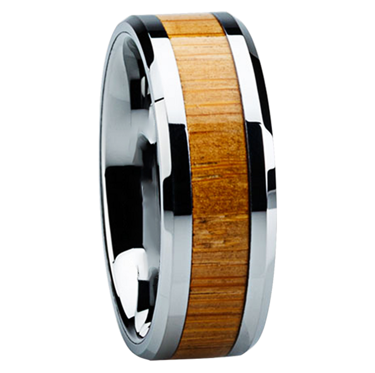 silver dual african thick web wedding handcrafted bamboo in mahogany band south africa wooden rings