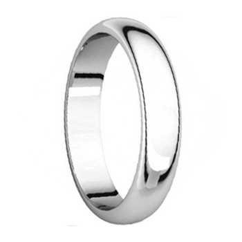 5 mm 10kt. Mens Wedding Bands in White Gold Handcrafted - Lander 50W