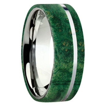 8 mm Exotic Wood in Titanium - K109M-BEBGreen