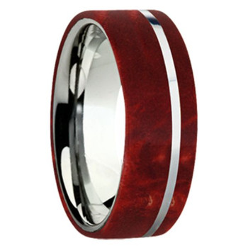 8 mm Exotic Wood in Titanium - K109M-BEBRed