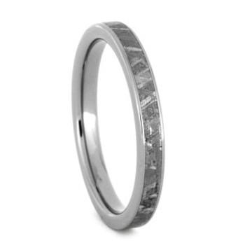 3 mm Meteorite Wedding Band in Titanium - W014M