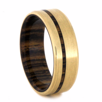 8 mm - 14 kt. Yellow Gold & Bocote Wood Inlay - YG218M
