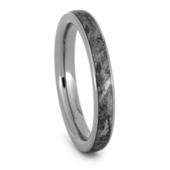 3 mm Meteorite Wedding Band in Titanium - W020M