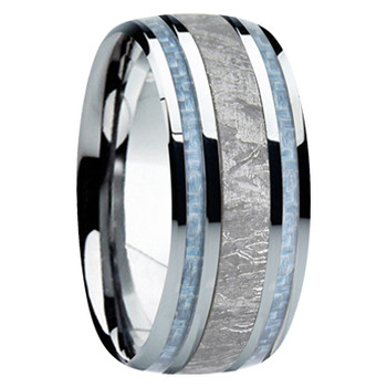 9 mm Meteorite in Cobalt Chrome, Mens Wedding Bands - CC740FS