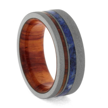 8 mm Titanium Tulipwood Sleeve and Sandblasted Titanium - SB297M