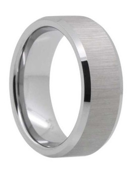 8 mm Satin Tungsten Band, Lifetime Warranty - P888C