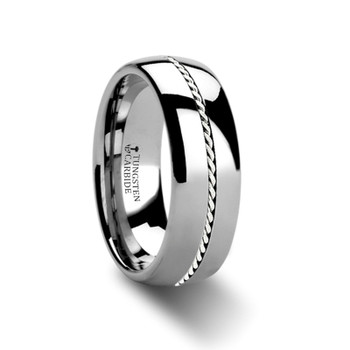 8 mm Tungsten/Palladium Wedding Band - B366TR