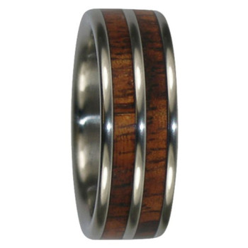 8 mm Tungsten with Dual Inlays in KOA Wood - DK601WG