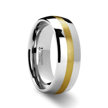 8 mm Tungsten/Gold Wedding Band - YG869TR