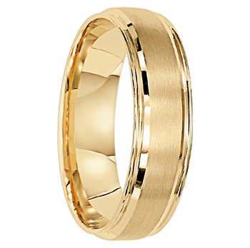 6 mm Unique Mens Wedding Bands in 10kt. Gold - Luxembourg-10
