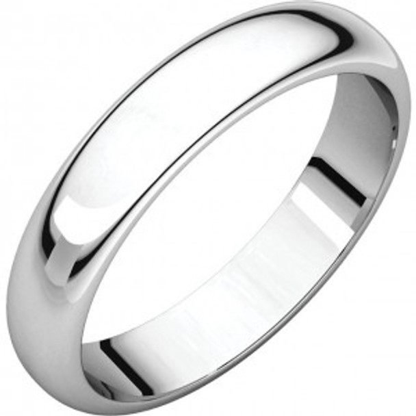 5 mm 10kt. Mens Wedding Bands in White Gold Handcrafted - Lander 50W