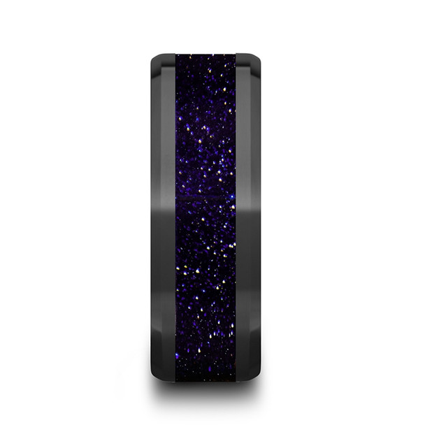8 mm Black Ceramic and Purple Goldstone Inlay - M985TR