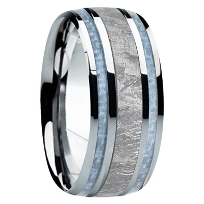 9 Mm Meteorite In Cobalt Chrome Mens Wedding Bands Cc740fs